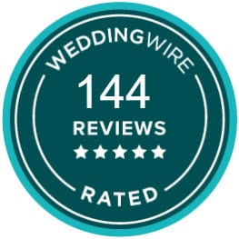 Rated on WeddingWire 144 times