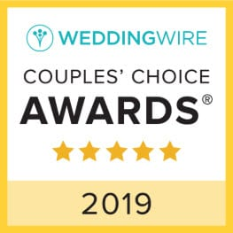 Wedding Wire Couple's Choice Award for 2019 and link to the WeddingWire Crescent Beach Club Reviews Profile