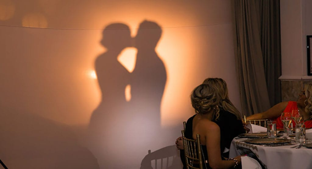 wedding silhouette entrances