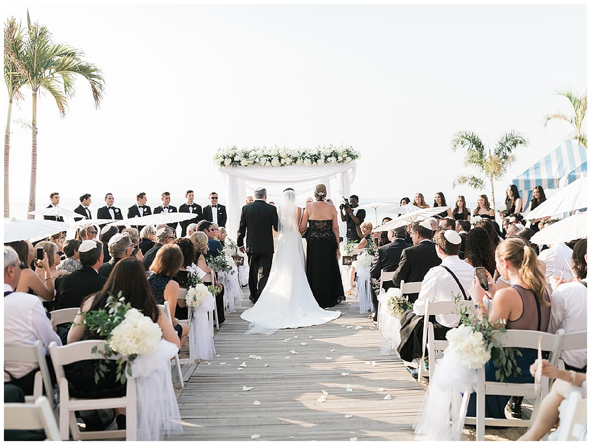 Unique wedding ceremony at The Crescent Beach Club