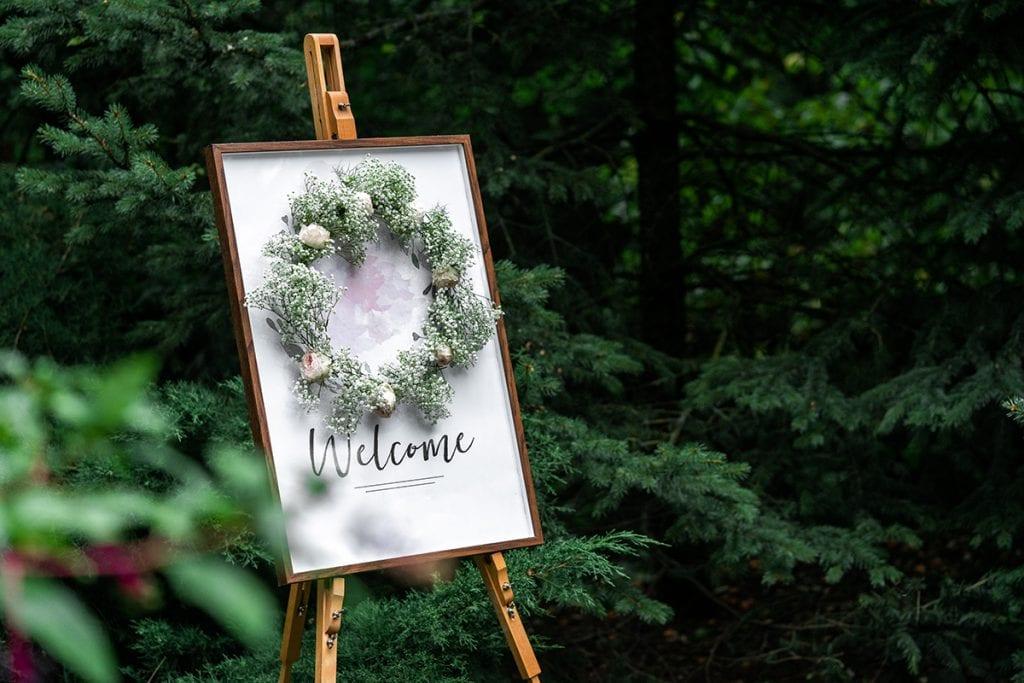 Wreaths for wedding floral designs