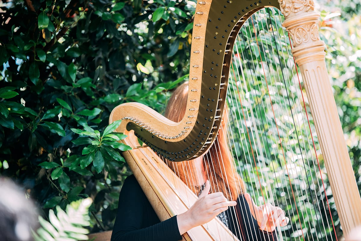 Harps make romantic wedding ceremony music