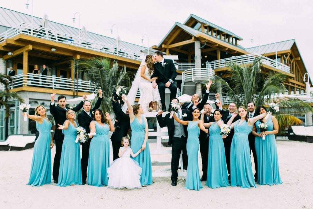 Wedding Pictures on Lifeguard Stand