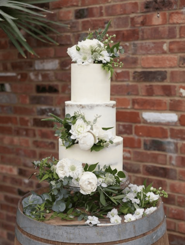 Florals with Foliage wedding cake