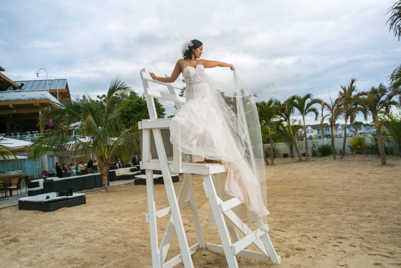 beachfront wedding gown