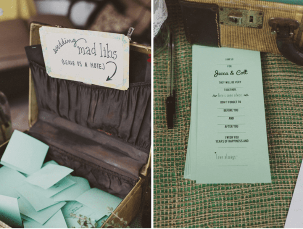 Mad Libs used in weddings