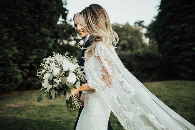 Capes are unique wedding accessories