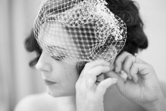 Birdcage veils are unique wedding accessories